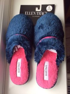 ELLEN TRACY Ladies Slippers Size Large USA 9-10,UK6/7/8 Sole length: 26cm  BNWT