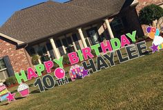 Happy Birthday Yard Greetings For Any Occasion Sign Gypsies Says BIG Things In A Unique Way