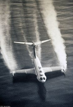 Sea plane: A Russian ground effect aircraft flies low over the water