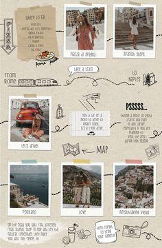 travel design Travel Inspiration Collage Wanderlust 69 New Ideas Scrapbook Journal, Travel Scrapbook, Friend Scrapbook, Vintage Collage, Restaurants In Paris, Travel Collage, Travel Album, Instagram Collage, Instagram Grid