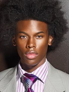 Natural Makeup For Men My Black Is Beautiful, Beautiful Men, Beautiful People, Naturally Beautiful, Natural Man, Pelo Natural, Au Natural, Black Men Hairstyles, Afro Hairstyles