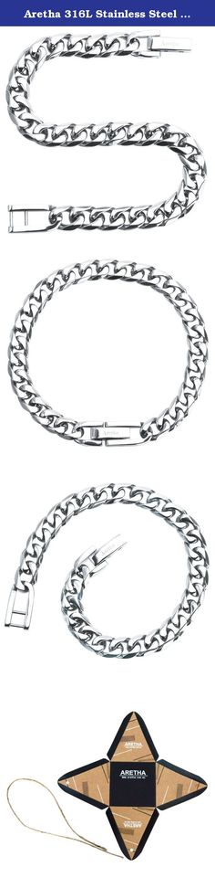 Aretha 316L Stainless Steel 7mm Unisex Silver Straight 7.7 Inch Curb Chain Tick Bracelet. Product Features: Aretha Jewelry only provides the best for you. We only use 316L stainless steel, this will make the jewelry much more shiny without tarnish overtime, and also use a special tech to make it has a lightweight and durable at the same time. The most important is no irritation or allergic reaction. Our design focuses all on details for customer comfortable and versatile. You are able to...