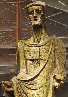 Sagrada Familia sculpture, Sagrada Familia Square, Barcelona, Spain, sculptor: Subirachs.  imagination Prime by al-ien