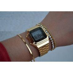 866ac186f9c Relogio Classico A178 Retro Vintage Dourado Prateado Unissex