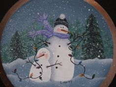 Tangled Snowmen Tole Painting Pattern by ThePaintingHouse on Etsy, $6.00