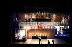 A scenic design model of #Rocky by #TonyAwards nominated designer #ChristopherBarreca.