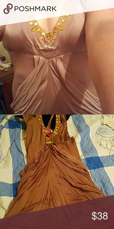 Applebottom party/clubbing dress It is a beautiful dress but i have nowhere to wear it. I said brown but its more bronze. My body does this dress no justice Apple Bottoms Dresses Mini