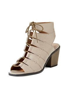 Katreena Ghillie Lace-Up Sandal from Summer Trend: Block-Heel Sandals on Gilt