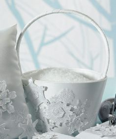 Buckets of snow to throw at the bride and groom?