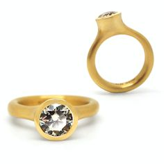 Henrich & Denzel - Prima Donna Platinum & Diamond Engagement Ring - ORRO Contemporary Jewellery Glasgow - princess cut diamond - Pave set diamonds