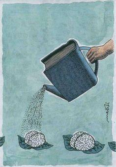 "Leggere fa bene al cervello. (Italian ""Reading is good for the brain. Nuture the brain with good books. Reading benefits the brain. Left brain is smaller then the right. I Love Books, Books To Read, My Books, Free Books, Book Nooks, Love Reading, Reading Books, Reading People, Reading Art"
