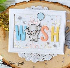Sweet Elephant Birthday wishes thanks to some adorable MFT Stamps goodies Kids Birthday Cards, Handmade Birthday Cards, Birthday Wishes, Scrapbooking, Scrapbook Cards, Mama Elephant Cards, Elephant Birthday, Kids Cards, Abc Cards