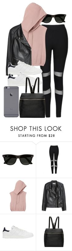 A fashion look from December 2016 featuring sleeveless hoodie shirt, stand collar leather jacket and topshop trousers. Browse and shop related looks. Look Fashion, Teen Fashion, Korean Fashion, Fashion Outfits, Fashion Tips, Winter Outfits, Summer Outfits, Casual Outfits, Cute Outfits