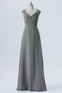 Steel Grey A Line Floor Length Sweetheart Capped Sleeve Lace Appliques  Cheap Bridesmaid Dresses B155. Navy Blue ... 016913ab5c68