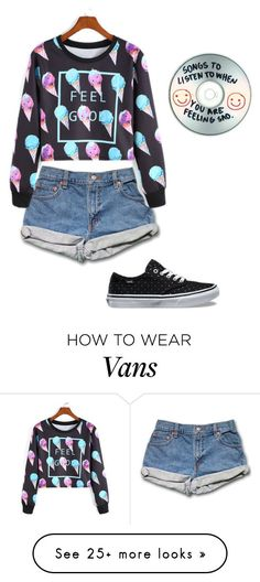 """Untitled #335"" by bagelgoddess on Polyvore featuring Vans and Sharpie"