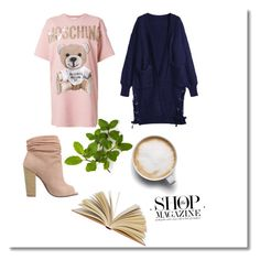 """""""Sunday morning ⛅️"""" by mckinleyelwick ❤ liked on Polyvore featuring Moschino, Kristin Cavallari and Caffé"""