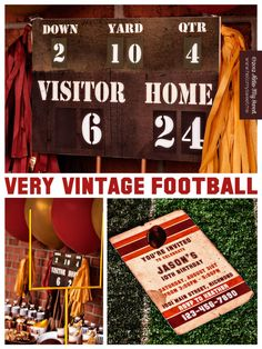 Football Birthday Party - You Pick Team Colors - Printable Decorations. $25.00, via Etsy.