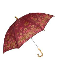 Karma Red & Pink Owl Umbrella | zulily