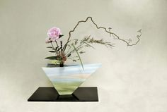 Ikebana Ikenobo rikka shimputai.Japan flower arrangement by Lusy Wahyudi. Indonesia