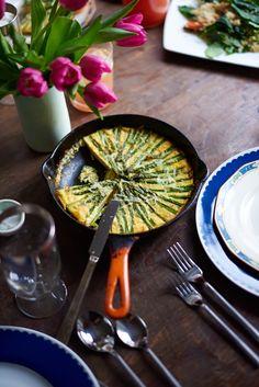 Asparagus Gruyere Frittata by camillestyles #Frittata #Asparagus
