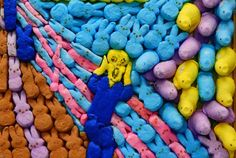 The Scream made of Peeps! 1st place winner of the Seattle Times Peeps Easter Diorama Contest