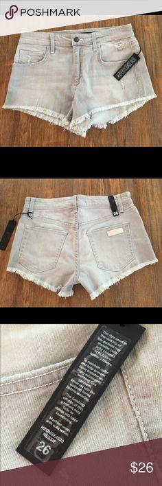 NWT  Joe's Jean Gray Shorts.  Size 26 Really cute pair of gray shorts with frayed edge. Size 26. NWT Joe's Jeans Shorts Jean Shorts