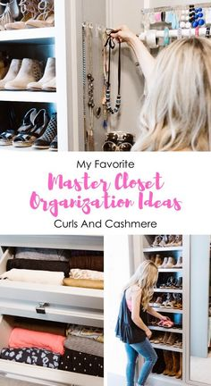 Need help to organize your closet? Click here as popular Oklahoma blogger Curls & Cashmere shares her Master Closet Organization tips and tricks with you!