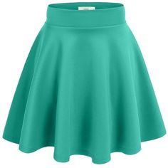 Simlu Women's A Line Flared Skater Skirt ($9.15) ❤ liked on Polyvore featuring skirts, flared hem skirt, flare skirt, flared skater skirt, blue skater skirt and blue flared skirt