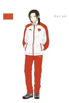 China in the Chinese athletes' uniform from the Opening Ceremonies of the 2014 Sochi Winter Olympic Games - Art by toxicell.tumblr.com