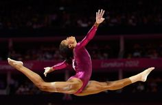 """The """"Flying Squirrel"""" Gabby Douglas took home Olympic gold in the women's all-around final. See more highlights from the 2012 London Games: http://ti.me/PuZDES #London Olympics"""