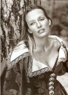 damsel in the woods  Christian Dior – ad campaign - fall winter 1993  model Estelle Lefebure  photographer Mario Testino
