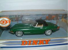 Dinky 1/43 scale diecast model Jaguar E Type Roadster in Green with Soft Top #DY001B £14.99