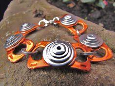 Orange ring pull bracelet. $14.00, via Etsy.