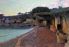 S Ller On The North Coast Of Mallorca 1905 Canvas Print / Canvas Art by Rusinol Santiago Spanish Painters, Spanish Artists, Barcelona, Modern Artists, Great Artists, North Coast, Art For Art Sake, Traditional Art, Landscape Paintings
