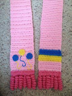Pinkie Pie Cutie Mark Crocheted Scarf My Little Pony by StayKnotty