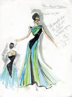 Edith Head sketch for Edie Adams (production unknown)