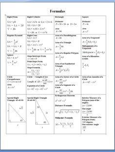 Education Discover geometric formulas basic algebra learn more at genautica com math calculus ii cheat sheet Geometry Formulas Math Formulas Math Formula Sheet Math Cheat Sheet Physics Cheat Sheet Cheat Sheets Sat Math Maths Algebra Algebra Activities Geometry Formulas, Math Formulas, Math Formula Sheet, Math Cheat Sheet, Cheat Sheets, Physics Cheat Sheet, Sat Math, Act Prep, Maths Algebra