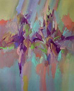 """New Floral"" is 48X60, acrylic on canvas #TomPotocki #Charleston #CharlestonArt #abstractart www.TomPotocki.com"