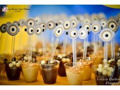 Post with 0 votes and 12007 views. Minion Theme, Minion Birthday, Minion Party Decorations, Party Themes, Party Ideas, Minions 4, Cap Cake, Diy Snacks, 3rd Birthday Parties