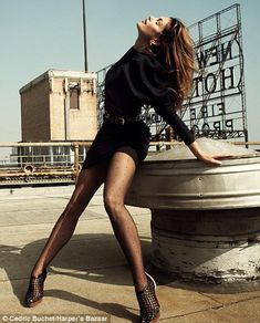 Cindy Crawford by Cedric Buchet Harper's Bazaar UK March2010