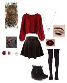 """Untitled #55"" by scarlett-redfoxx ❤ liked on Polyvore featuring Chicwish, Music Legs, Red Herring, Allurez and Links of London"
