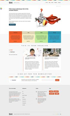 Tint is our colorful theme that opens up some cool possibilities, its layout is simple and professional and it's able to transform every element to predefined colors, or any color of your desire. You can adapt it for your line of business with just touch or two