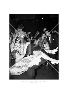 Admiration for a daring 'dip and swing' move at the Trinity Ball. June 1959 See more photos like this at www. Fine Art Photo, Photo Art, History Photos, Photo Archive, More Photos, Dublin, Dip, Ireland, Fine Art Prints