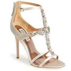 Women's Badgley Mischka 'Giovanna II' Satin Ankle Strap Sandals- Shoes - Heels / sandalias - fiesta - cristales