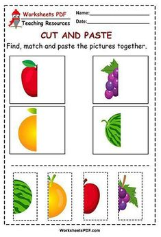Preschool Activity Books, Preschool Learning Activities, Preschool Printables, Preschool Lessons, Preschool Worksheets, Preschool Activities, Fun Worksheets For Kids, Cut And Paste Worksheets, Ideas