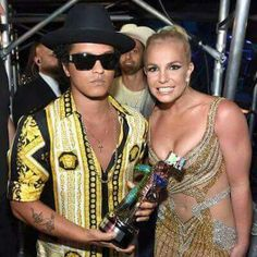 Bruno Mars and Brittany Spears At the VMA's