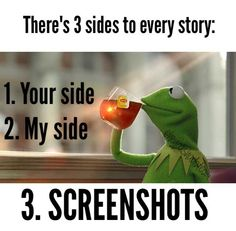 Zackly. Kermit, None of My business