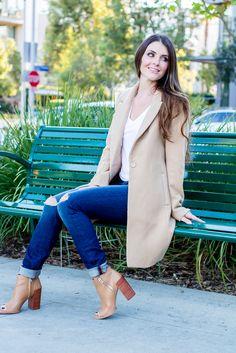 Nude booties, dolce vita, shopping, fashion, blogger, fall fashion, j brand, coats under $60