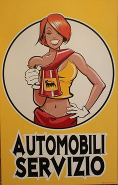 Vintage Italian Posters, Vintage Ads, Vintage Italy, Filles Punk Rock, Dibujos Pin Up, Plakat Design, Chevy, Garage Art, Girl Posters