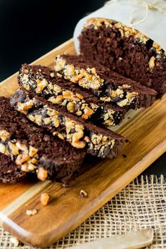 This dark chocolate zucchini bread is moist, rich, light, airy, decadent and delicious. Only 10 ingredients and 1 bowl needed! A great bread for breakfast!